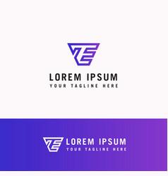 modern line art letter et logo this logo icon vector image