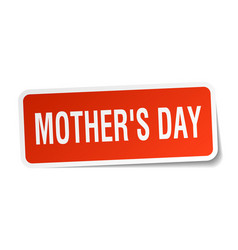 Mothers day square sticker on white vector