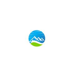 mountain nature landscape logo vector image