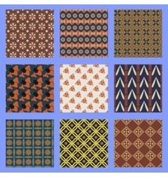 Oriental seamless pattern set vector image