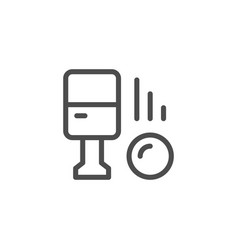 parking machine line icon vector image