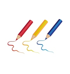 Pencils on white background vector image
