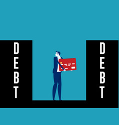 people with expenses and debt all direction vector image