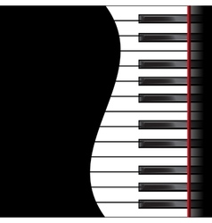 Piano on a black background vector