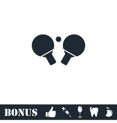 Ping pong icon flat vector image