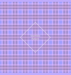 plaid fabric cage back pattern vector image