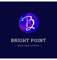 polygonal style elegant B letter logo vector image