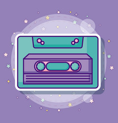 Retro casette icon vector