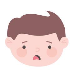 Sad man cartoon expression face isolated icon vector