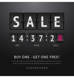 Sale analog flip clock vector image vector image