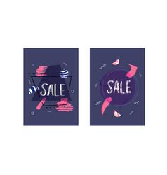 sale banner template color vector image
