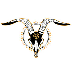 scary deer skull on background square vector image