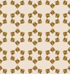 seamless floral ornament geometric vector image
