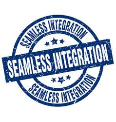 Seamless integration blue round grunge stamp vector
