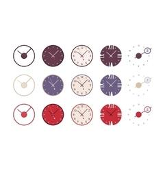 Set of modern wall clocks vector image