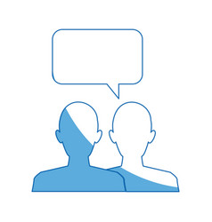 silhouette people speech bubble chat dialog vector image vector image