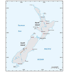 Simple map new zealand vector