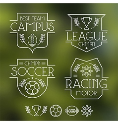 sport badges and icons vector image