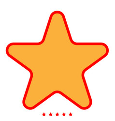 star icon color fill style vector image