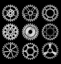 steampunk gears vector image