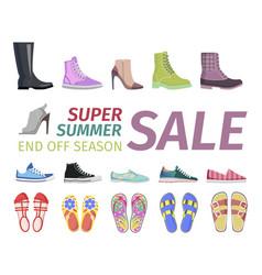Supper summer shoes sale flat concept vector