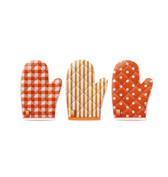 textile cooking gloves vector image