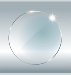transparent round circle see through element on vector image