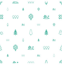 trees icons pattern seamless white background vector image