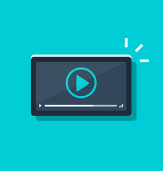 video player icon on tablet or smartphone screen vector image