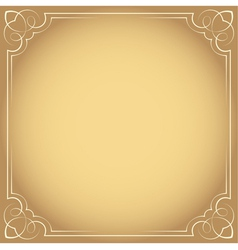 Vintage beautiful elegant frame Element for design vector image