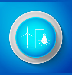 windmill turbine generating power energy and lamp vector image
