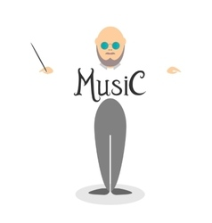 Character of musician conductor vector image vector image