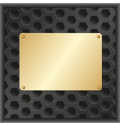 golden plaque vector image
