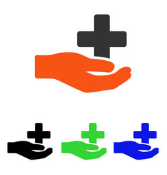 health care donation flat icon vector image vector image