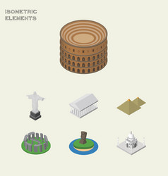isometric cities set of india mosque coliseum vector image vector image