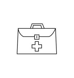 medical suitcase icon vector image