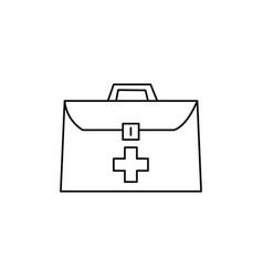 medical suitcase icon vector image vector image