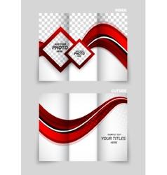 Tri-fold brochure abstract design vector image