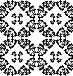 Abstract seamless floral pattern vector image vector image