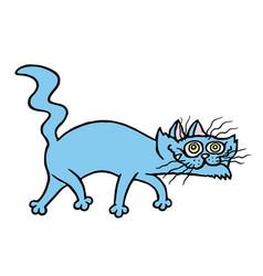 cartoon evil cat preys vector image