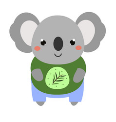 cute koala cartoon kawaii animal character vector image
