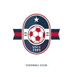 football Badge 8 vector image vector image