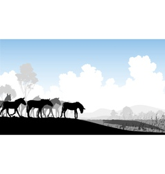 Watering hole vector image vector image