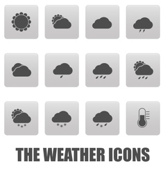 Weather icons on gray squares vector image vector image