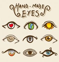artistic eyes vector image vector image