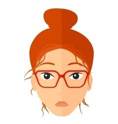 Confused Women Cartoon vector image vector image