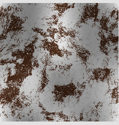metallic foil with rust textured pattern vector image vector image