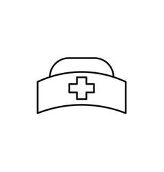 nurse hat icon vector image