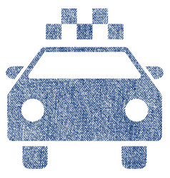 taxi automobile fabric textured icon vector image