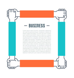 Website banner and landing page business vector